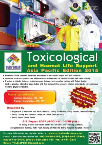 Toxicological and Hazmat Life Support Asia Pacific Edition 2015